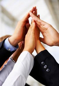 hands unite