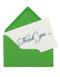 send your customers a thank you note to tell them you care